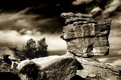 Balanced Rock At Garden Of The Gods Print by Toni Hopper