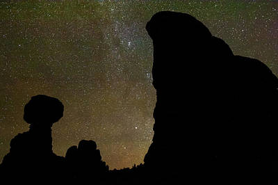 Photograph - Balanced Rock Under The Stars - Moab Utah by Gregory Ballos