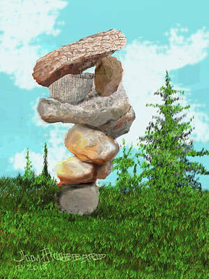 Digital Art - Balanced Rocks #6 by Jim Hubbard