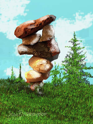 Digital Art - Balanced Rocks #8 by Jim Hubbard