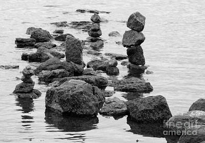 Photograph - Balanced Rocks Bw by Jean Wright