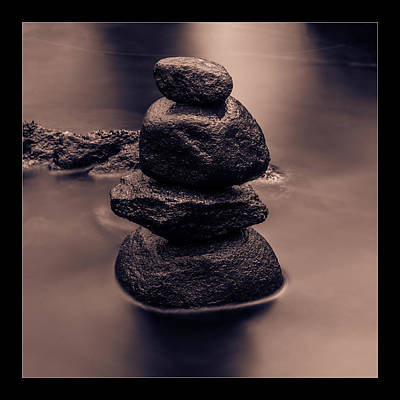 Balanced Stones  Art Print by Tommytechno Sweden