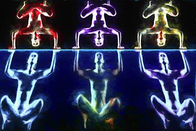 Digital Art - Balanced Yoga by John Haldane