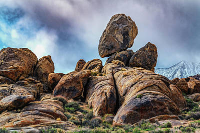 Photograph - Balancing Rock Alabama Hills by Janis Knight
