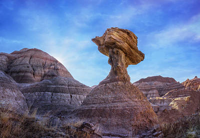 Photograph - The Balancing Rock In Badlands National Park by Ray Van Gundy