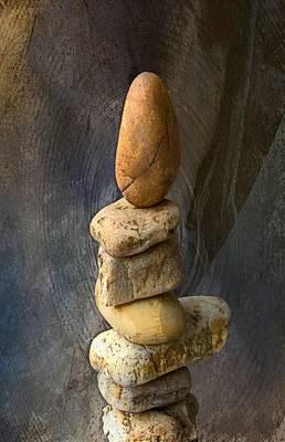 Photograph - Balancing Stones 2 by John Stuart Webbstock