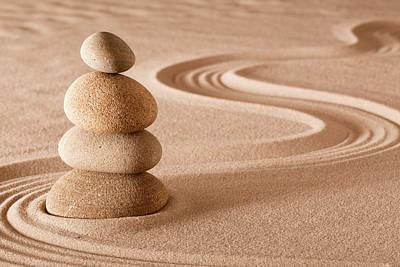 Photograph - Balancing Stones Zen Garden by Dirk Ercken