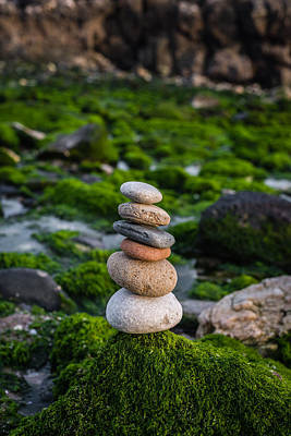 Photograph - Balancing Zen Stones By The Sea II by Marco Oliveira