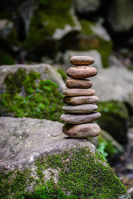 Photograph - Balancing Zen Stones by Marco Oliveira