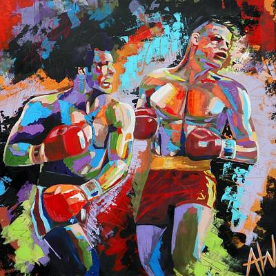 Boxing Painting - Balboa by Angie Wright