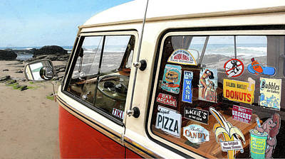 Balboa Bus Print by Ron Regalado