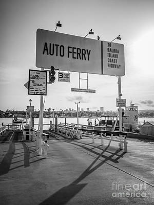 Balboa Island Ferry In Newport Beach California Art Print