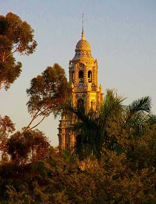 Photograph - Balboa Park Bell Tower Orig. by Phyllis Spoor