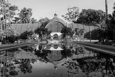 Photograph - Balboa Park Botanical Garden San Diego In Black And White by Ram Vasudev