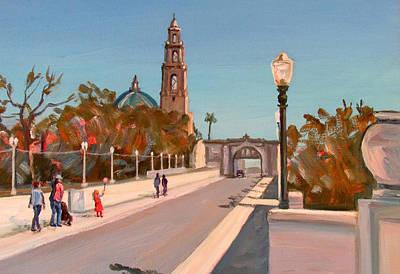 Southwest Gate Painting - Balboa Park Bridge Entry Close Up by Robert Gerdes