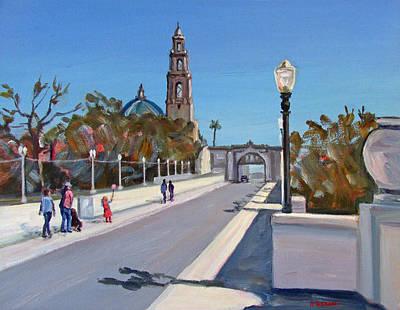Southwest Gate Painting - Balboa Park Bridge Entry by Robert Gerdes