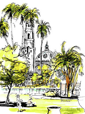 Painting - Balboa Park San Diego 4 by Terry Banderas