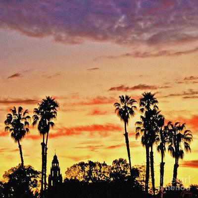 Photograph - Balboa Park Sunset by Gabriele Pomykaj