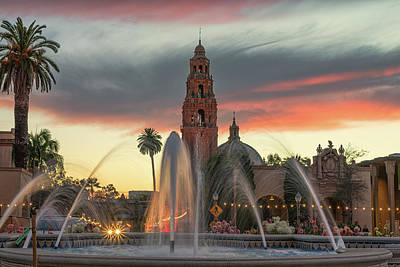 Balboa Park Sunset Art Print