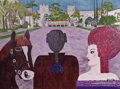 Painting - Balboa Park Visitors by Jasna Gopic
