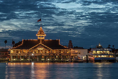 Photograph - Balboa Pavilion At Night by Cliff Wassmann