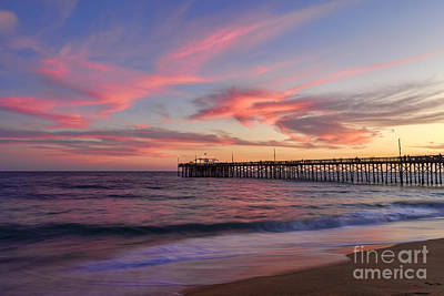 Balboa Digital Art - Balboa Pier At Sunset by Eddie Yerkish