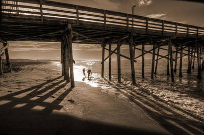 Photograph - Balboa Pier Fishermen by Richard Omura