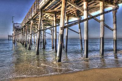 Balboa Pier Pylons Art Print