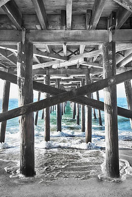 So. Cal Wall Art - Photograph - Balboa Pier Under by Rosanne Nitti