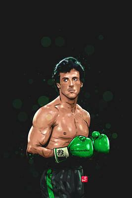 Boxing Legends Digital Art - Balboa Punch Team by Akyanyme