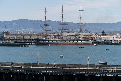 Photograph - Balclutha Cargo Ship At Hyde Street Pier San Francisco California Dsc3180 by Wingsdomain Art and Photography