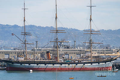 Photograph - Balclutha Cargo Ship At Hyde Street Pier San Francisco California Dsc3181 by Wingsdomain Art and Photography