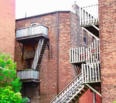 Photograph - Balconies And Stairs by Stephanie Moore