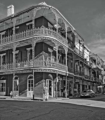 Photograph - Balconies Bw by Steve Harrington