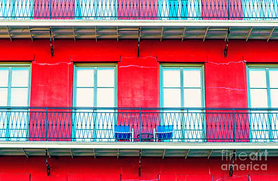 Photograph - Balconies by Frances Ann Hattier