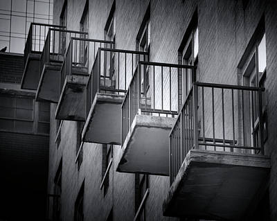 Photograph - Balconies In A Row by Mark Andrew Thomas