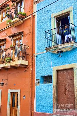 Photograph - Balconies In Guanajuato by Tatiana Travelways