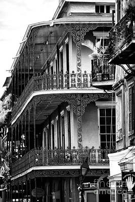 Balconies In Nawlins Art Print by John Rizzuto