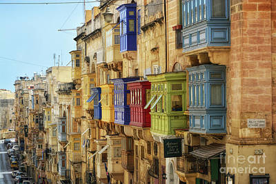 Photograph - Balconies In Valletta by Stephan Grixti