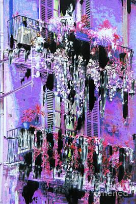 Garden Scene Mixed Media - Balconies by Nica Art Studio