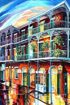Balconies On St. Peter Street Original by Diane Millsap