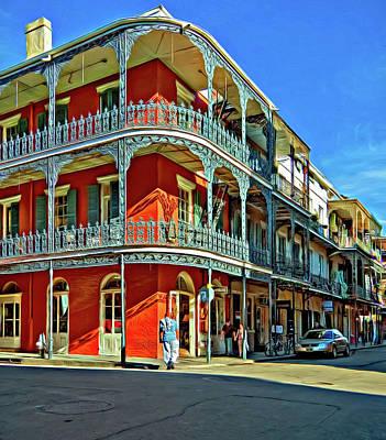 Photograph - Balconies - Paint by Steve Harrington