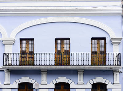 Photograph - Balcony And Doors by Oscar Gutierrez