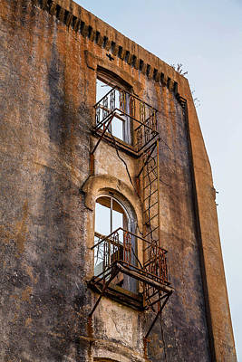 Photograph - Balcony And Fire Escape Mary Allen Seminary Crockett Texas by Micah Goff