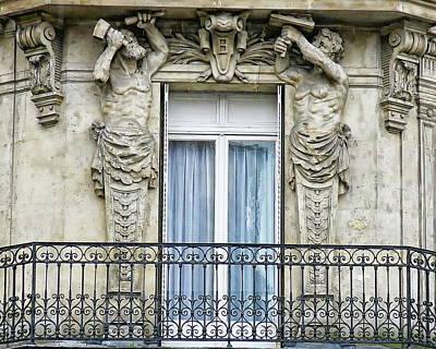 Photograph - Balcony And Window by Anthony Dezenzio