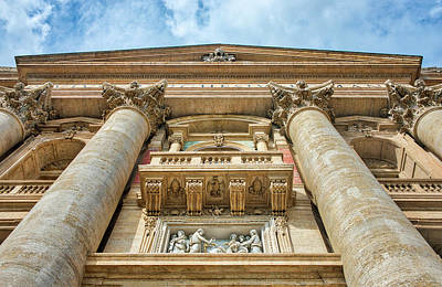 Photograph - Balcony At St. Peters Cathedral by Gary Slawsky