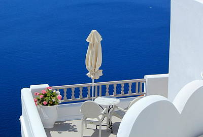 Photograph - Balcony At The Sea, Santorini, Greece by Elenarts - Elena Duvernay photo
