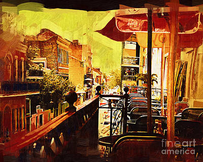 Digital Art - Balcony Cafe by Kirt Tisdale