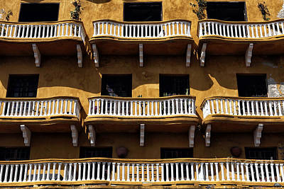 Photograph - Balcony Colors In Cartagena by John Rizzuto
