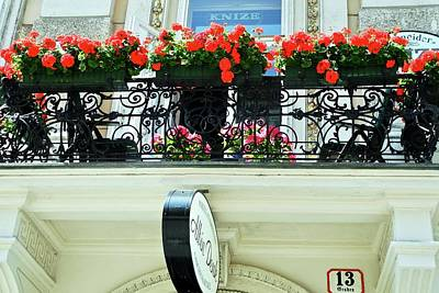 Photograph - Balcony Flower Pots In Vienna by Kirsten Giving